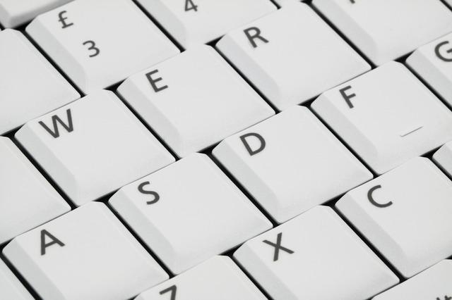 Tastschreiben im Zehnfingersystem - Tastatur-Ausschnitt